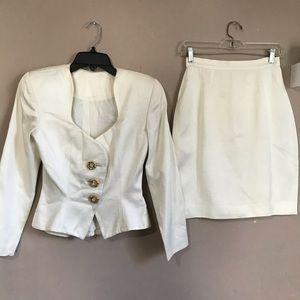 Pilar Rossi Blazer Skirt Suit Size 8 Structured